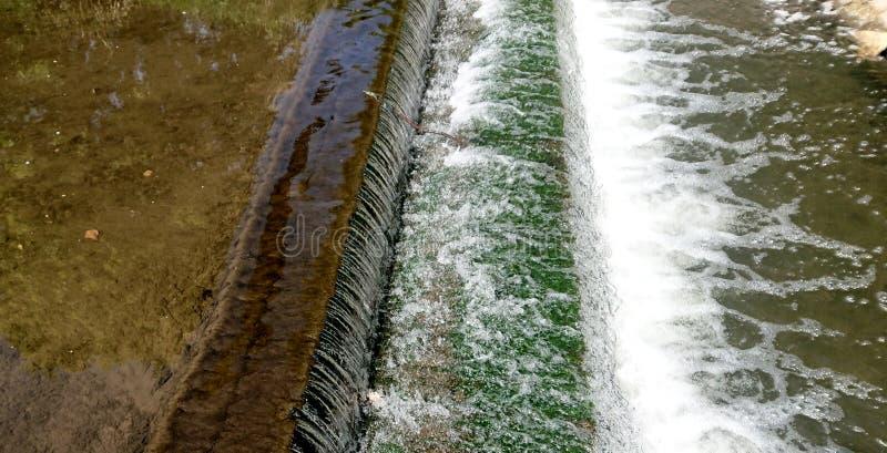 Manmade Waterfall Closeup. Flowing Water stock photos