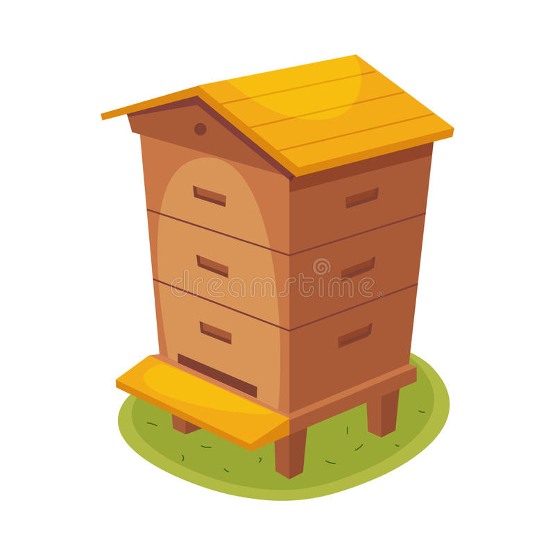 Free Manmade Wooden Farm Beehive Cartoon Illustration Royalty Free Stock Photos - 84977608
