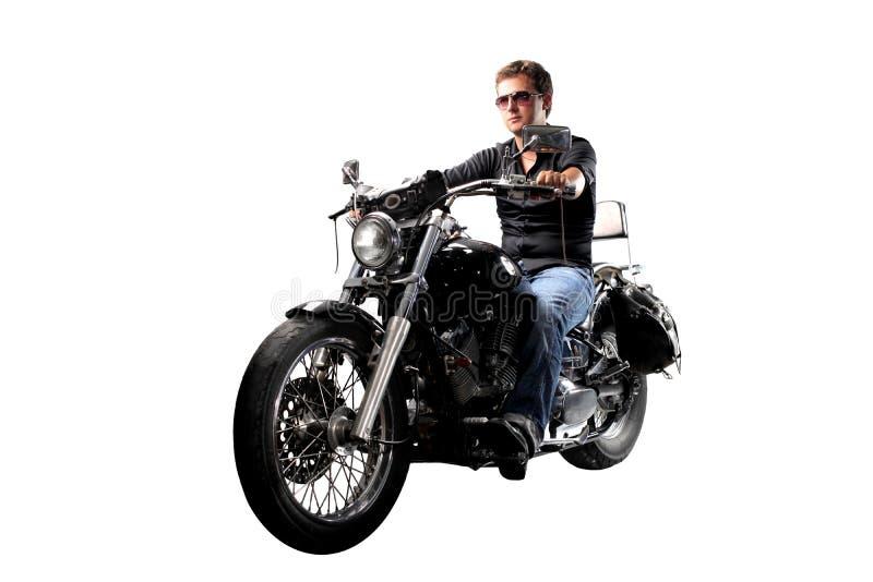 manmotorbike royaltyfri fotografi
