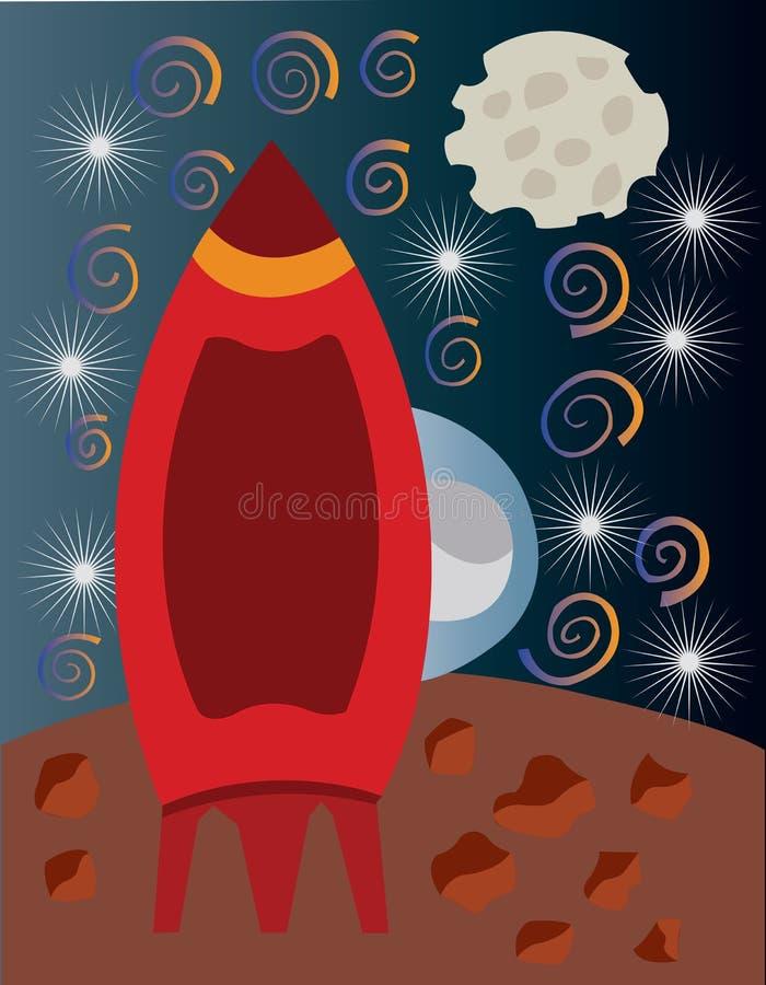 Mann auf dem Mond vektor abbildung