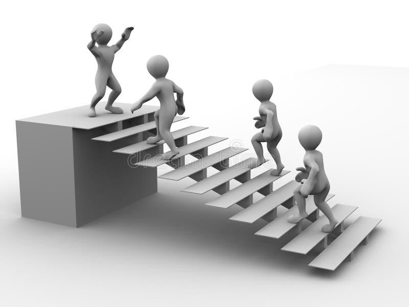 Mann auf Treppen lizenzfreie abbildung