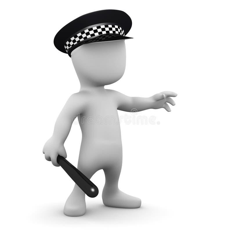 Mann 3d ist ein Polizeibeamte lizenzfreie abbildung