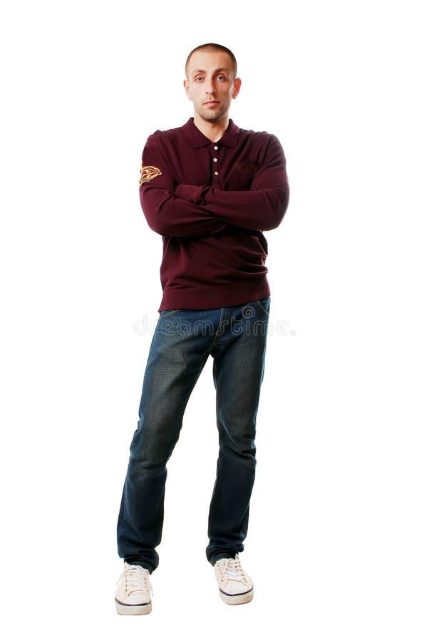 Mann in den Jeans stockbild