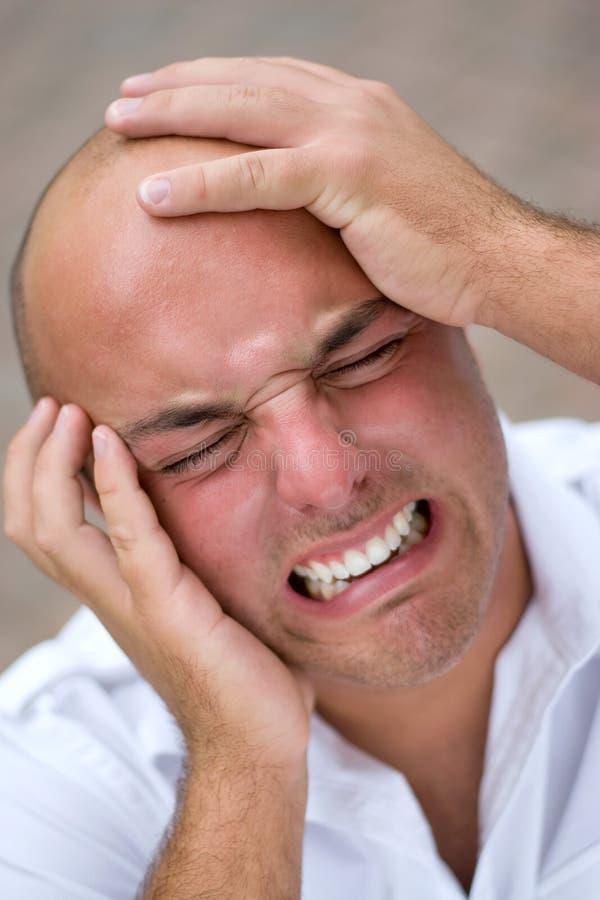 Mann in den Schmerz lizenzfreie stockfotos