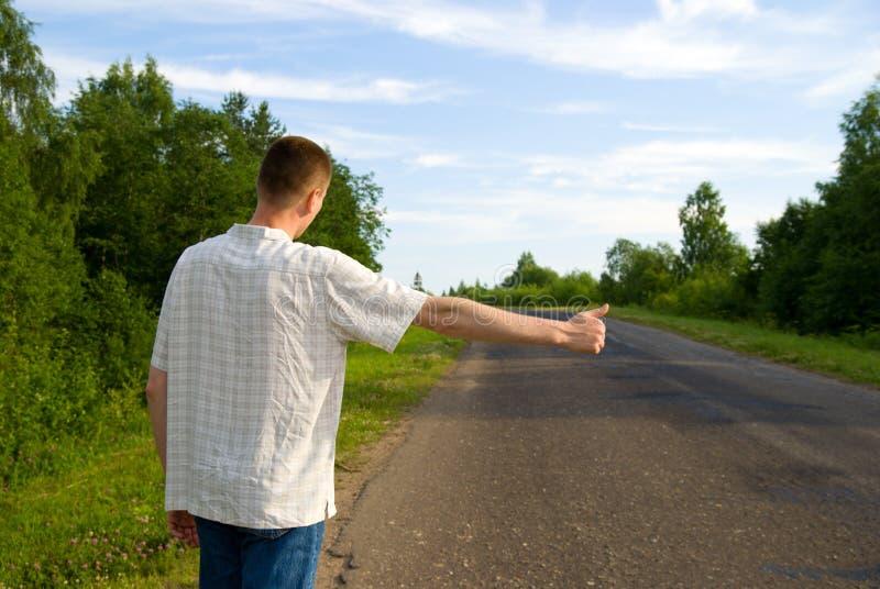 Download Mann, der Auto stoppt stockfoto. Bild von methode, anschlag - 9086856