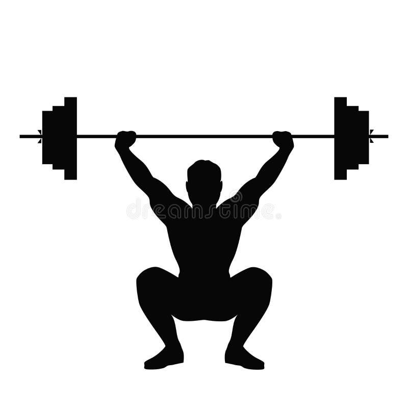Mann, der das Gewichtanheben tut vektor abbildung