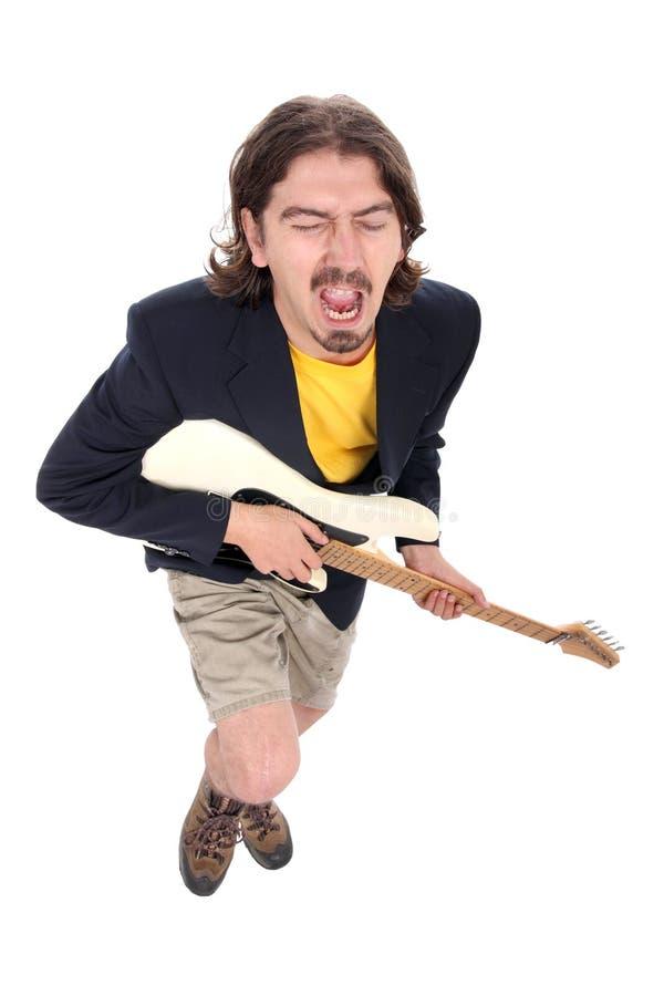 Mann, der die Gitarre spielt stockbilder