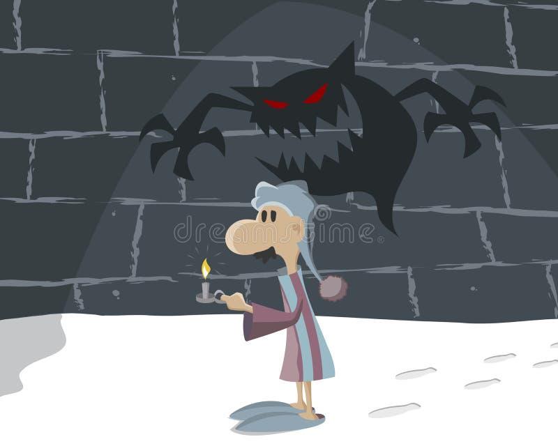 Mann in der Dunkelheit