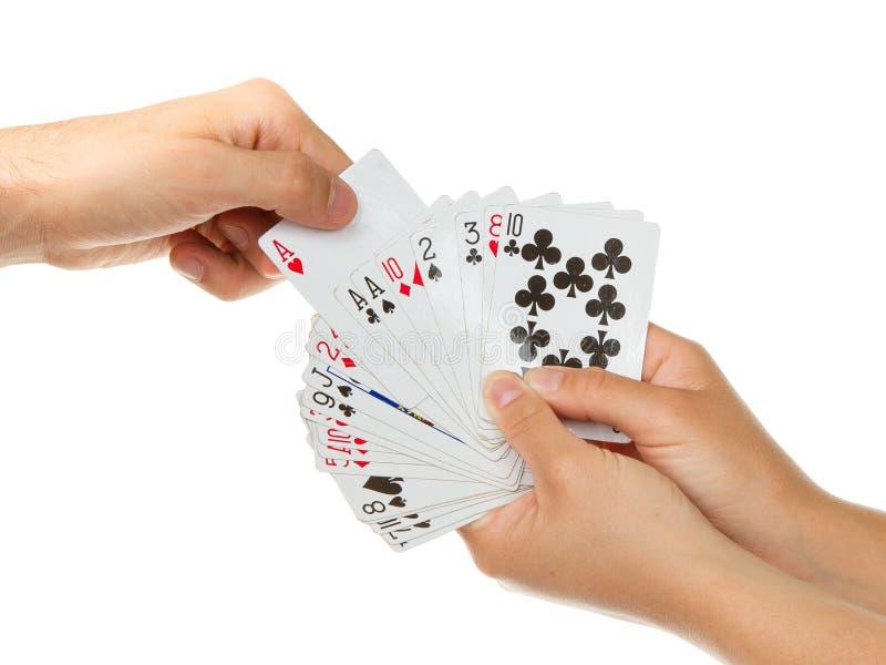 Download Mann, Der Eine Spielkarte Auswählt Stockbild - Bild von mädchen, hintergrund: 26359887