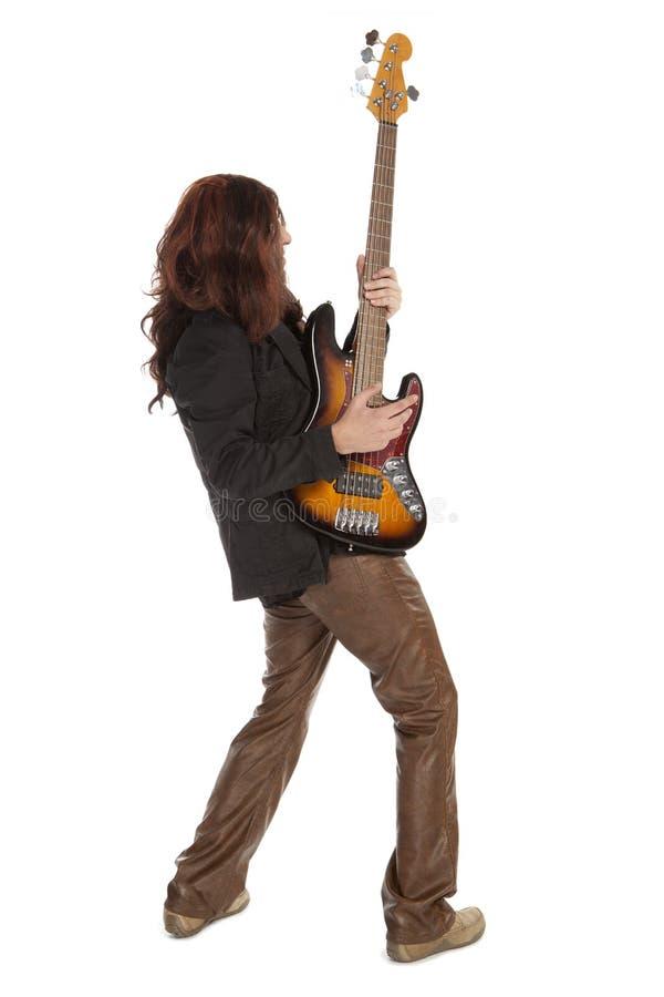 Mann, der elektrische Gitarre spielt lizenzfreies stockfoto