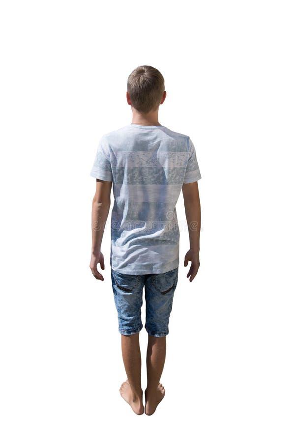 Mann der hinteren Ansicht stockbild