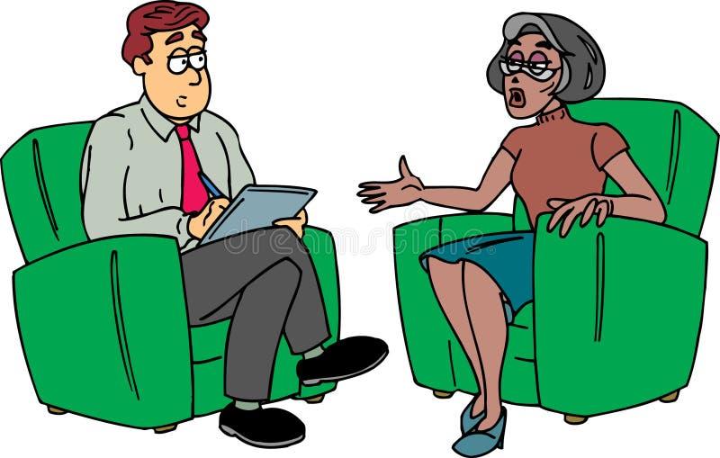 Mann, der Kenntnisse mit Dame nimmt lizenzfreie abbildung