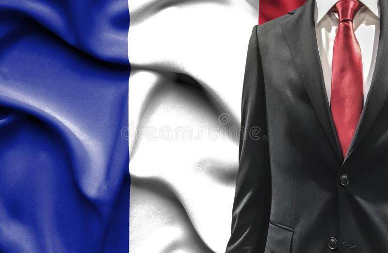 Mann in der Klage von Frankreich lizenzfreie stockfotos