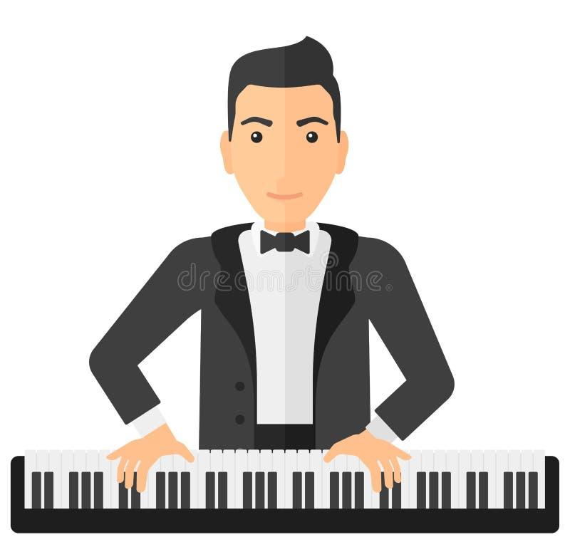 Mann, der Klavier spielt vektor abbildung