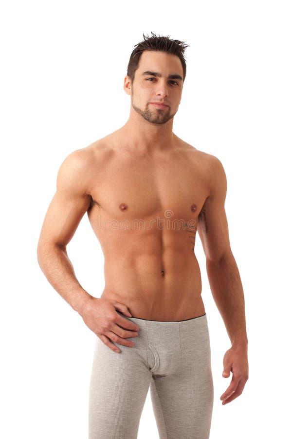 Mann in der langen Unterwäsche lizenzfreie stockfotografie