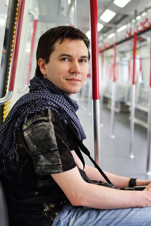 Download Mann in der Metro. stockbild. Bild von metro, leute, kaukasisch - 26371675