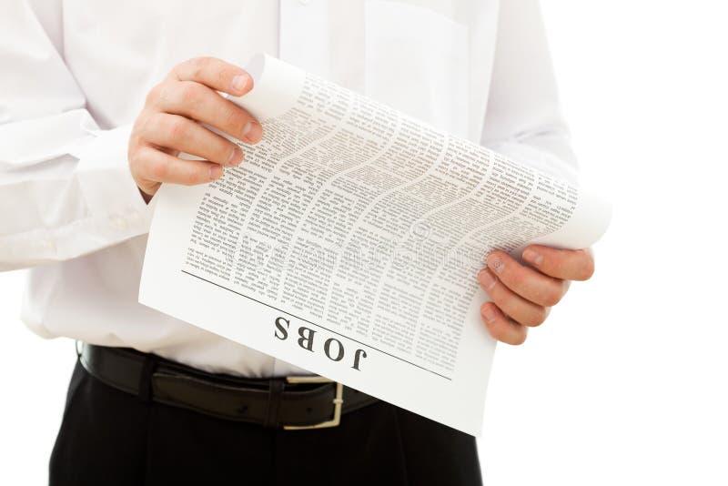 Mann, der nach einem Job sucht stockbilder
