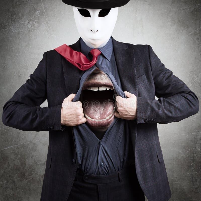 Mann in der Schablone lizenzfreie stockfotografie