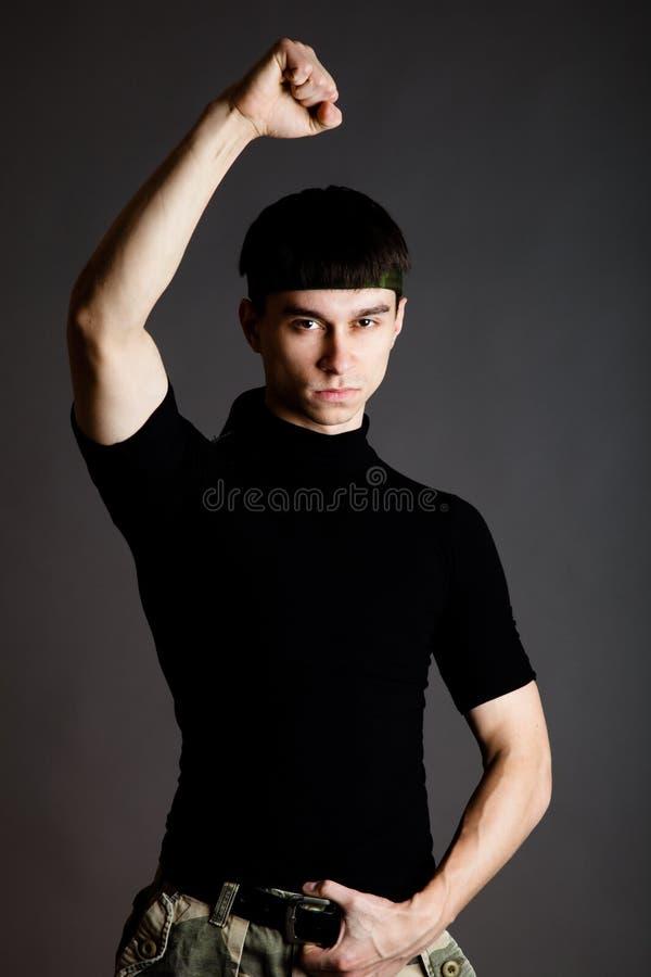 Mann in der Uniform stockbilder