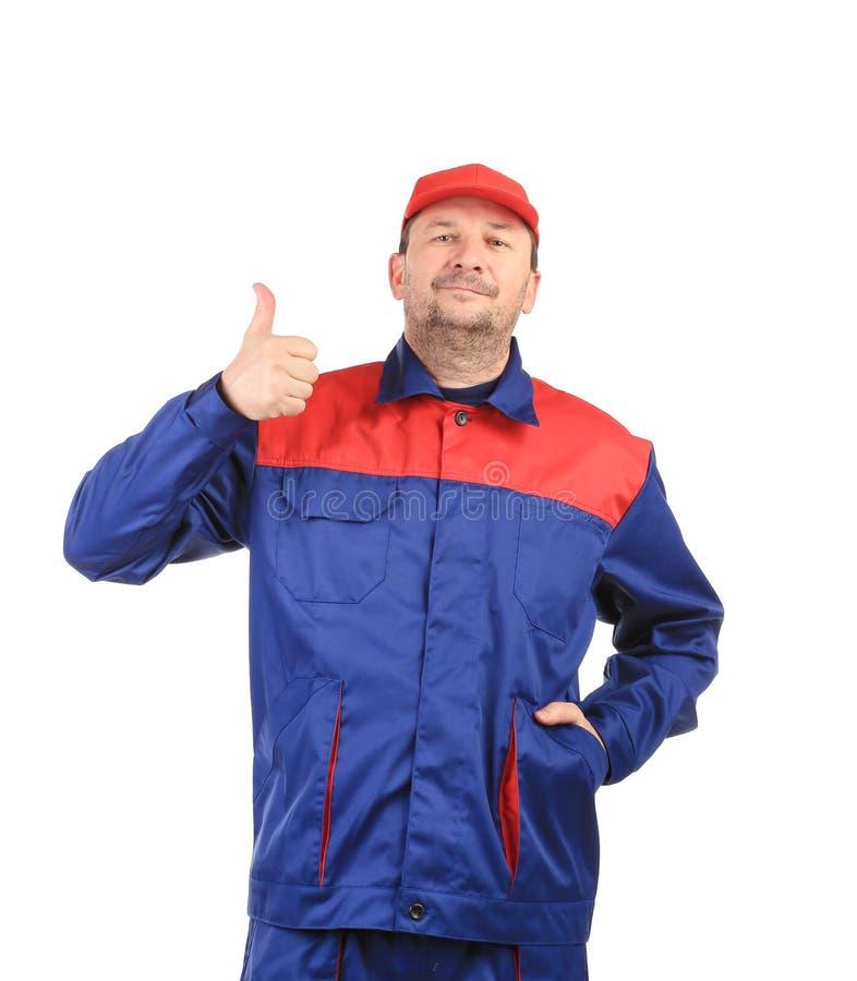 Mann in der Uniform. lizenzfreies stockfoto