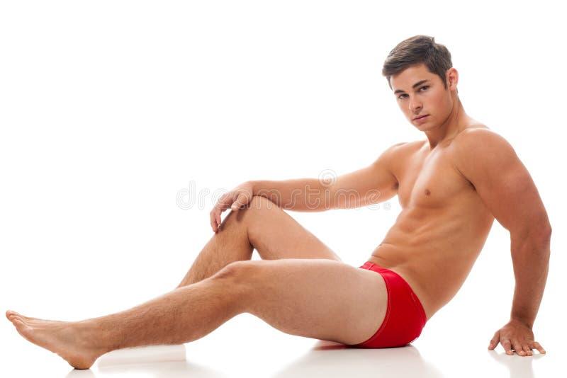 Mann in der Unterwäsche lizenzfreies stockfoto