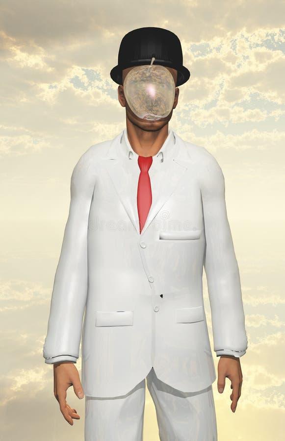Mann in der weißen Klage lizenzfreie abbildung