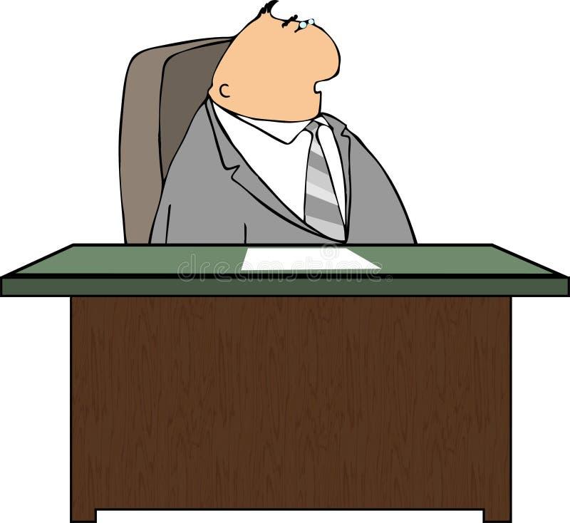 Mann an einem Schreibtisch stock abbildung