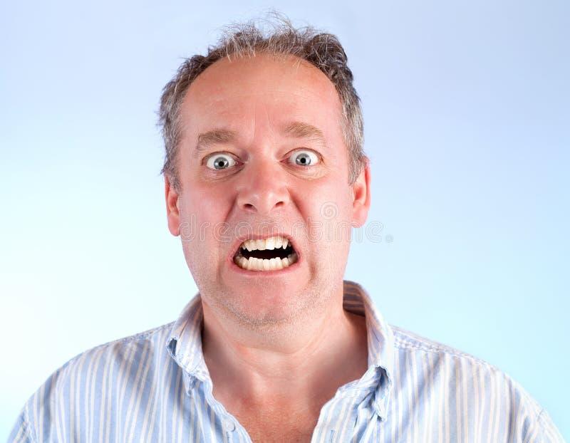 Mann erzürnt über etwas lizenzfreie stockbilder