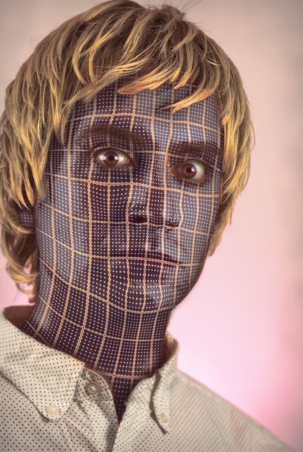 Mann gegen Maschine lizenzfreie stockbilder