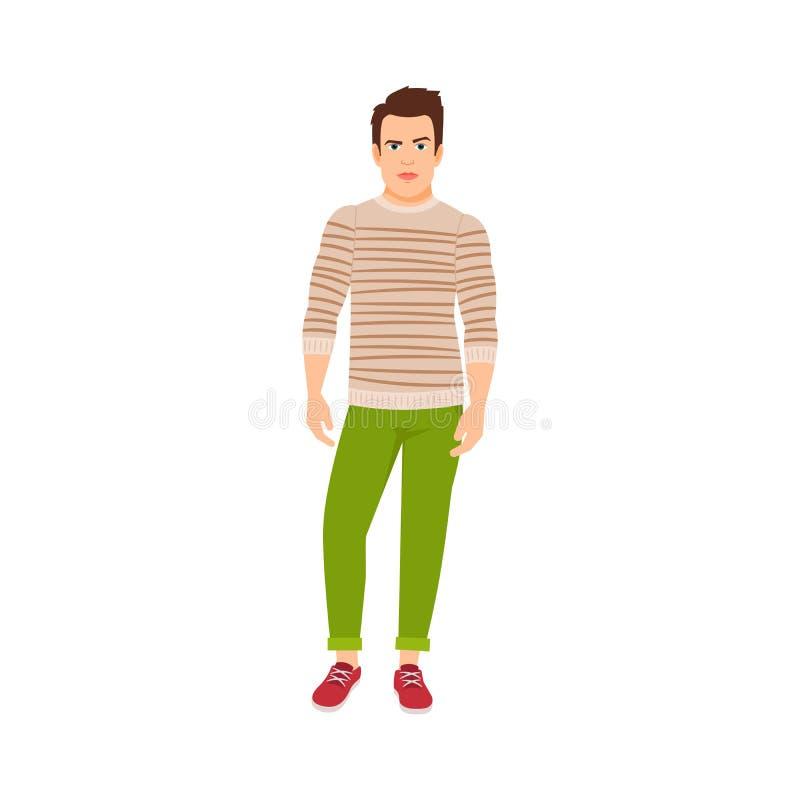 Mann gekleidet in der Herbstart lizenzfreie abbildung