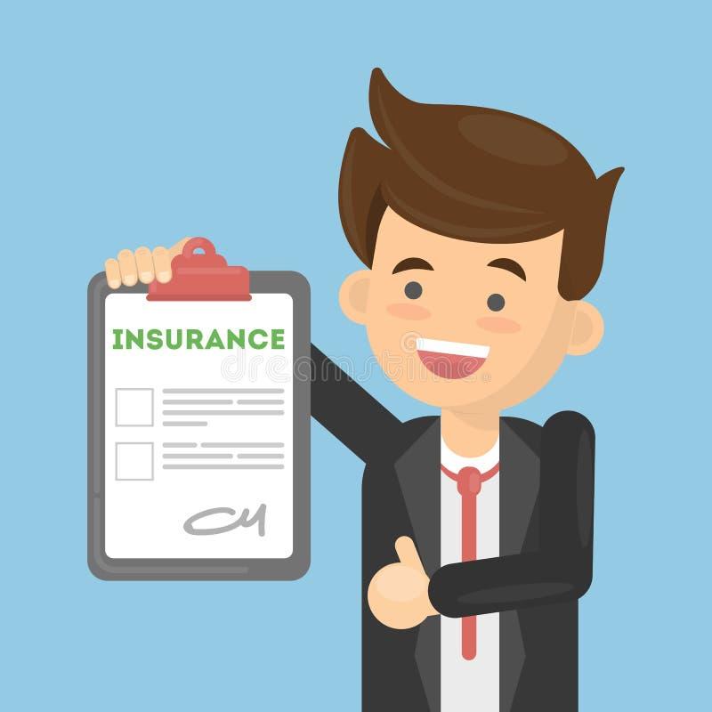 Download Mann Genehmigt Versicherung Vektor Abbildung - Illustration von unterlagen, anspruch: 90225892