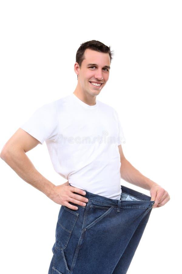 Mann-Gewicht-Verlust stockbilder