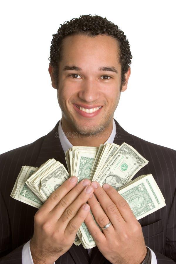 Mann-Holding-Geld stockfoto