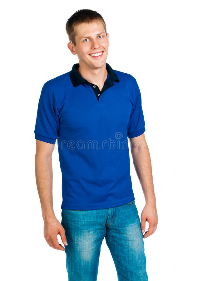 Mann im blauen uniforme stockfoto