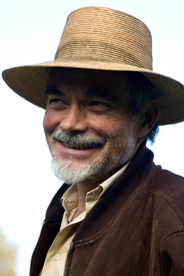 Mann im Hut lizenzfreie stockfotografie