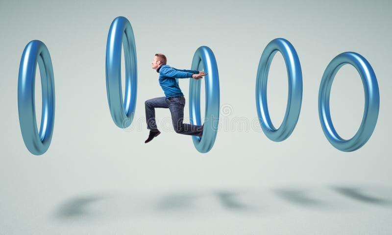 Mann im Ring vektor abbildung