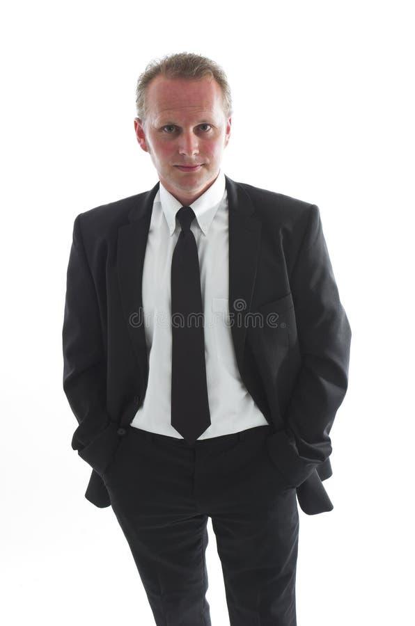 Mann im Schwarzen lizenzfreie stockbilder