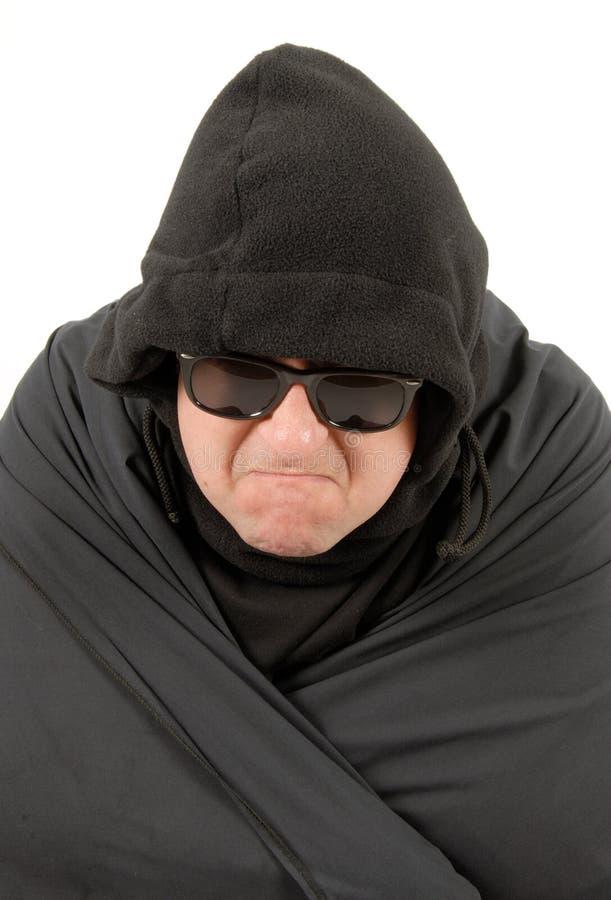 Mann im Schwarzen stockfoto