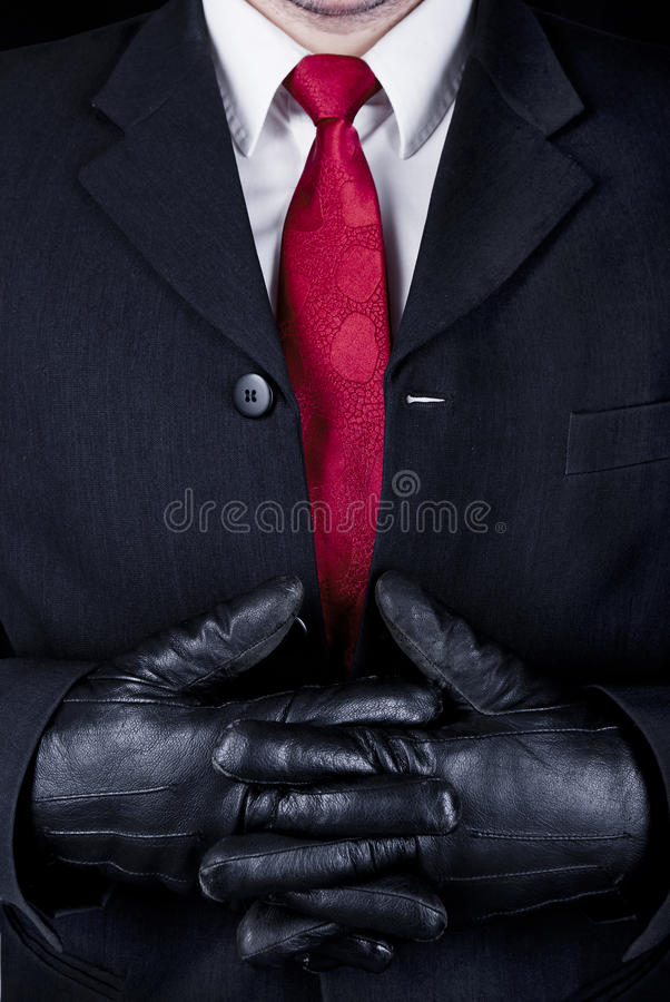 Mann im Schwarzen lizenzfreies stockbild
