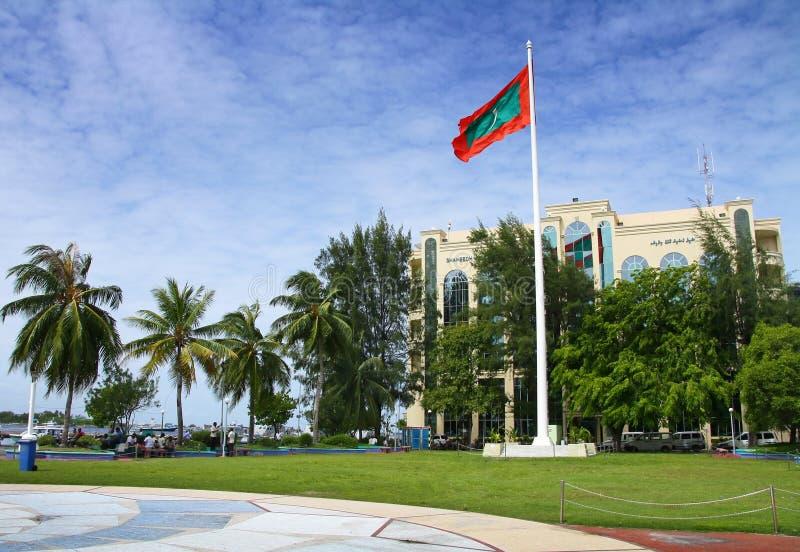 Mann - Kapital von Maldives stockfotos