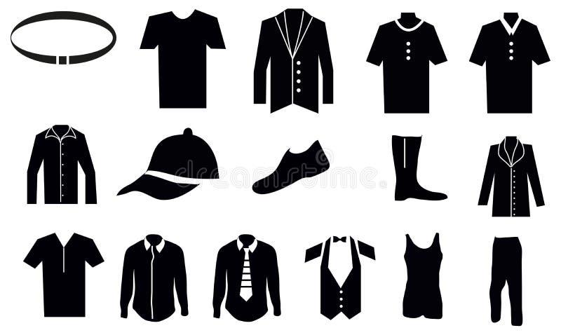 Mann-Kleidungs-Ikonen eingestellt vektor abbildung
