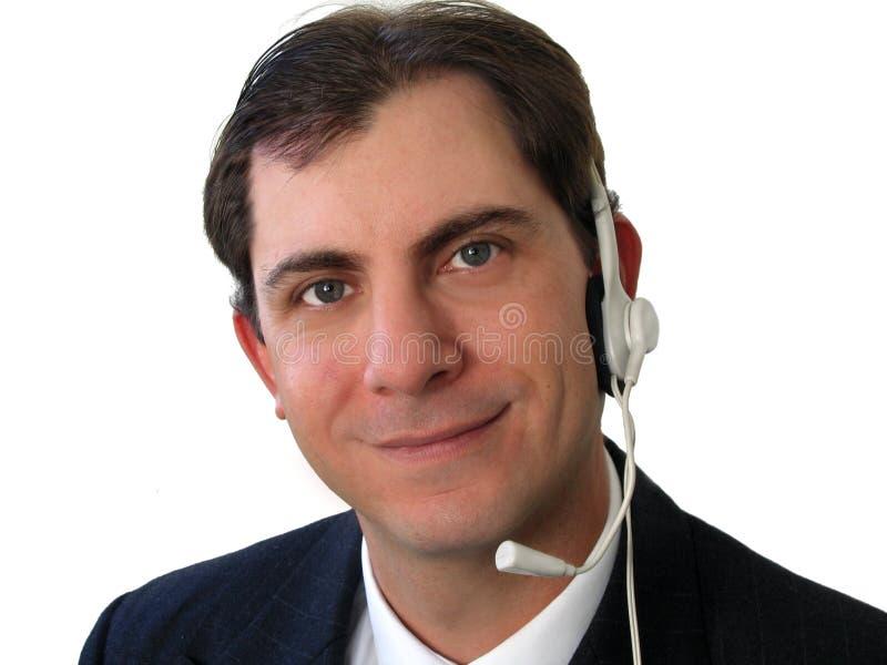 Mann-Kopfhörer stockfoto