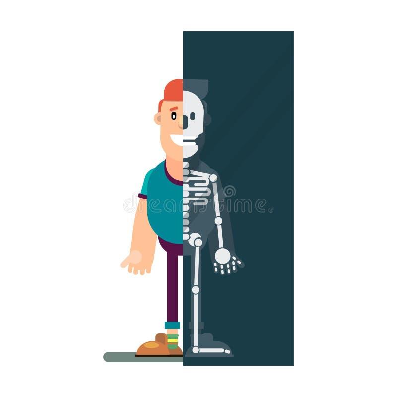 Mann macht einen Röntgenstrahl stock abbildung
