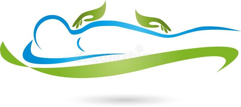 Mann, Massage, Praktiker, Hände lizenzfreie abbildung