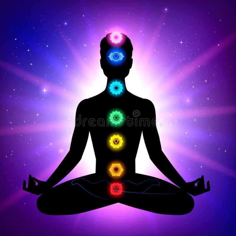 Mann meditation vektor abbildung
