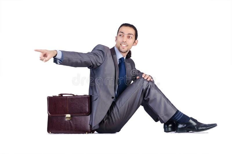 Download Mann mit Aktenkoffer stockfoto. Bild von person, druck - 26373556