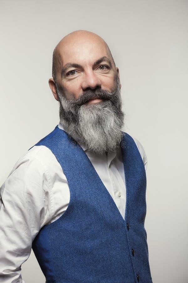 Mann mit Bart lizenzfreies stockbild