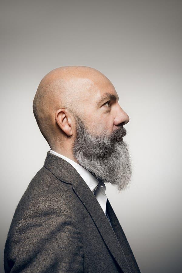 Mann mit Bart stockfoto