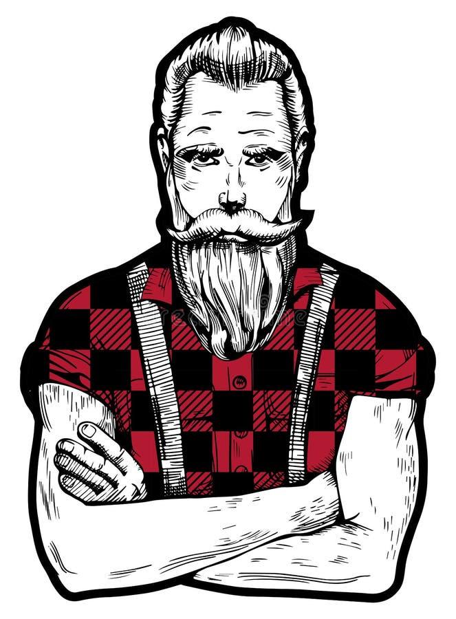 Mann mit Bart vektor abbildung