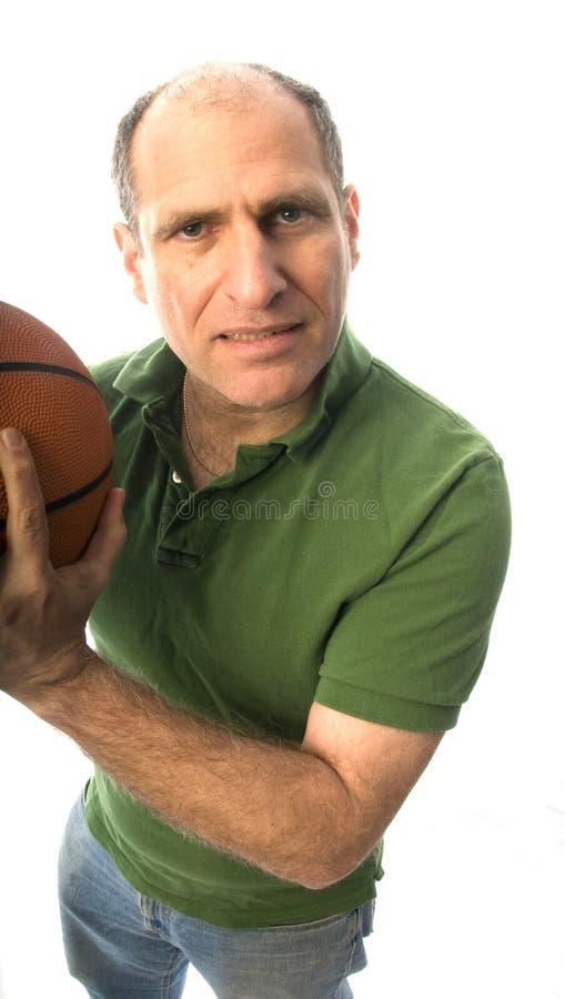 Mann mit Basketball stockbilder